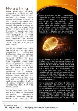 Fiery American Football Ball Word Template, First Inner Page, 10412, Sports — PoweredTemplate.com