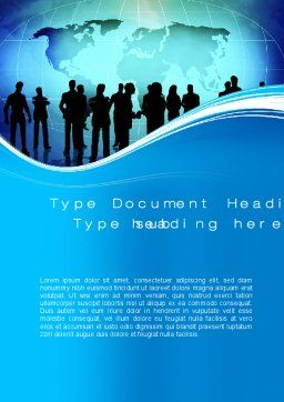 Business Silhouettes Word Template, Cover Page, 10414, Business — PoweredTemplate.com