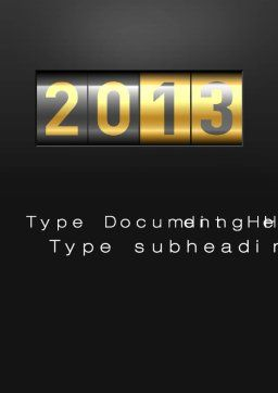 New Year Counter Word Template, Cover Page, 10420, Holiday/Special Occasion — PoweredTemplate.com