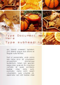 Christmas Cooking Word Template, Cover Page, 10423, Holiday/Special Occasion — PoweredTemplate.com