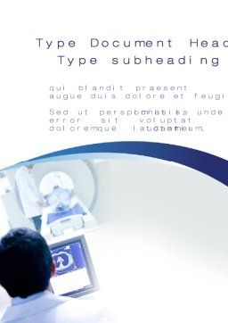 MRI Examination Word Template, Cover Page, 10424, Medical — PoweredTemplate.com