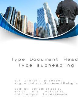 City Guard Security Word Template, Cover Page, 10425, Legal — PoweredTemplate.com