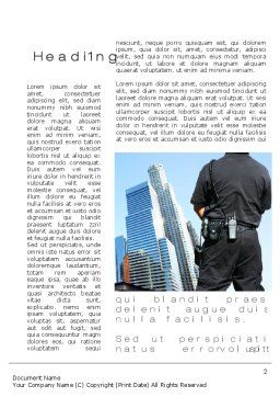 City Guard Security Word Template, First Inner Page, 10425, Legal — PoweredTemplate.com