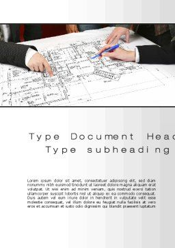 Construction Project Approvals Word Template, Cover Page, 10427, Careers/Industry — PoweredTemplate.com