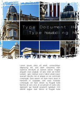 Architecture Style Word Template, Cover Page, 10428, Construction — PoweredTemplate.com