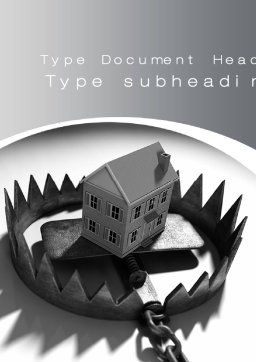 Mortgage Trap Word Template, Cover Page, 10430, Construction — PoweredTemplate.com