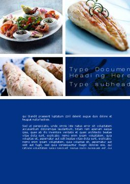 Cuisine Word Template, Cover Page, 10437, Food & Beverage — PoweredTemplate.com