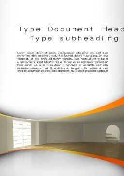 Indoor Space Word Template, Cover Page, 10438, Construction — PoweredTemplate.com