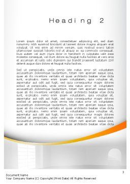 Indoor Space Word Template, Second Inner Page, 10438, Construction — PoweredTemplate.com