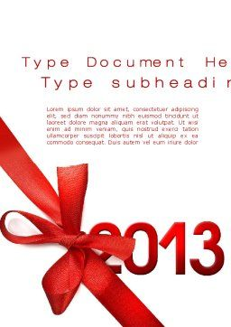 2013 Gift Word Template, Cover Page, 10441, Holiday/Special Occasion — PoweredTemplate.com