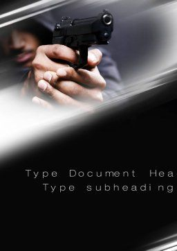 Gunman Word Template, Cover Page, 10442, Legal — PoweredTemplate.com
