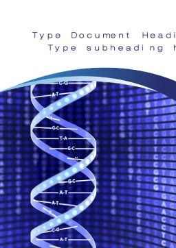 Strand of DNA Word Template, Cover Page, 10443, Technology, Science & Computers — PoweredTemplate.com