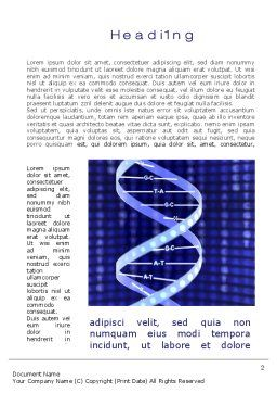 Strand of DNA Word Template, First Inner Page, 10443, Technology, Science & Computers — PoweredTemplate.com