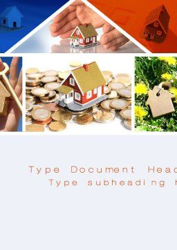 Real Estate Investment Word Template, Cover Page, 10447, Construction — PoweredTemplate.com