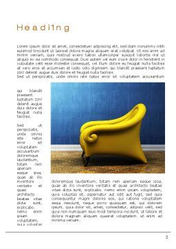 Creative Chair Word Template, First Inner Page, 10448, Careers/Industry — PoweredTemplate.com