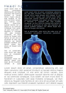 Heart Disease Word Template, First Inner Page, 10449, Medical — PoweredTemplate.com