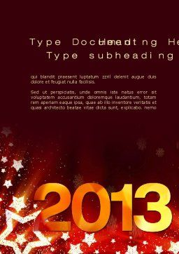 2013 Word Template, Cover Page, 10450, Holiday/Special Occasion — PoweredTemplate.com