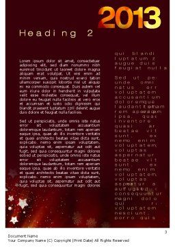 2013 Word Template, Second Inner Page, 10450, Holiday/Special Occasion — PoweredTemplate.com