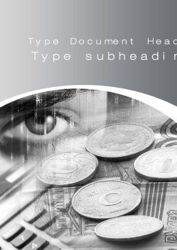 Finances Word Template, Cover Page, 10451, Financial/Accounting — PoweredTemplate.com