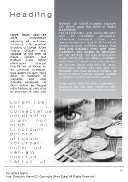 Finances Word Template First Inner Page