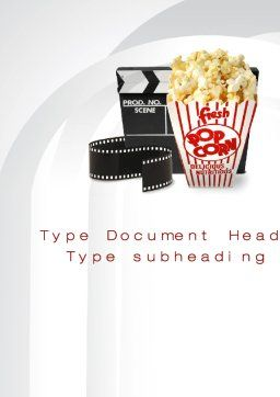 Film Entertainment Word Template Cover Page