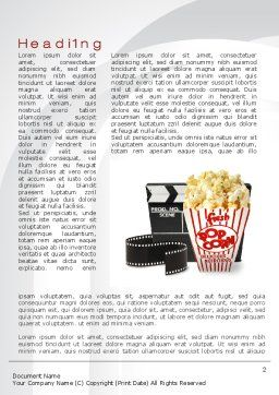 Film Entertainment Word Template First Inner Page