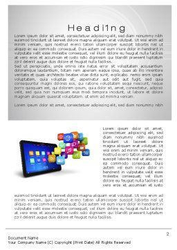 Mobile Applications Word Template, First Inner Page, 10464, Technology, Science & Computers — PoweredTemplate.com