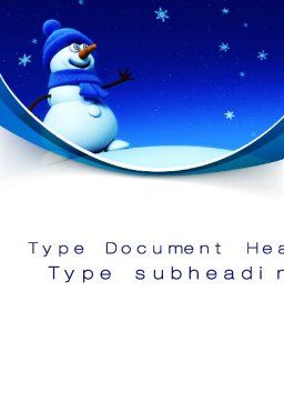 Jolly Snowman Word Template, Cover Page, 10465, Holiday/Special Occasion — PoweredTemplate.com