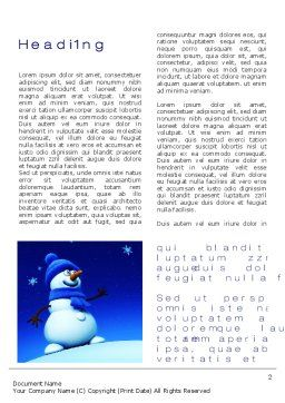 Jolly Snowman Word Template, First Inner Page, 10465, Holiday/Special Occasion — PoweredTemplate.com