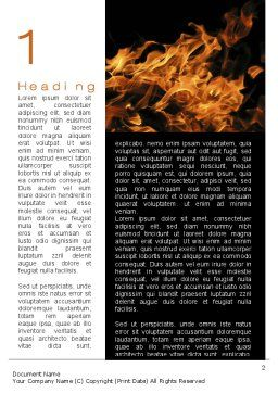 Flame Spurts Word Template First Inner Page