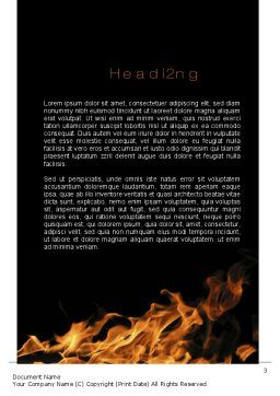 Flame Spurts Word Template Second Inner Page