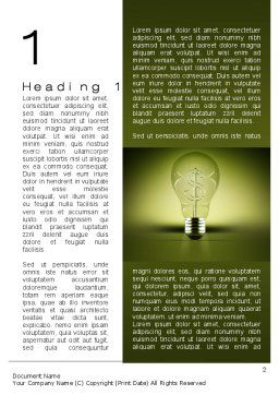 Profit Making Idea Word Template First Inner Page