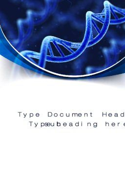 3D DNA Word Template, Cover Page, 10471, Technology, Science & Computers — PoweredTemplate.com