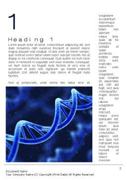 3D DNA Word Template, First Inner Page, 10471, Technology, Science & Computers — PoweredTemplate.com