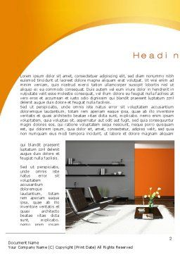 Home Interior Design Word Template First Inner Page