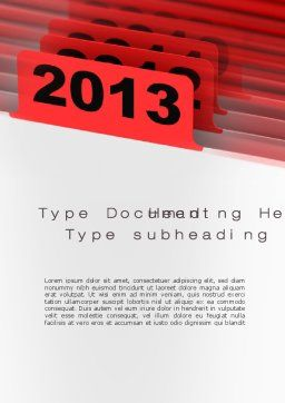 2013 Year's Plan Word Template, Cover Page, 10473, Business Concepts — PoweredTemplate.com