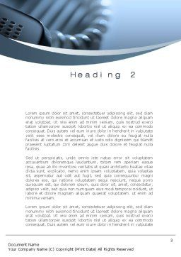 Handset Word Template, Second Inner Page, 10474, Telecommunication — PoweredTemplate.com