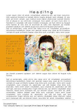 Painter Word Template, First Inner Page, 10477, People — PoweredTemplate.com