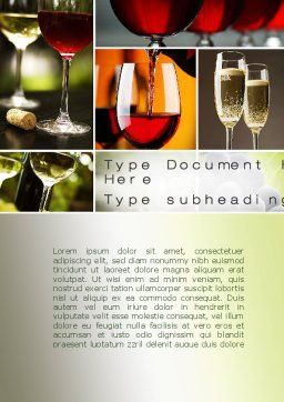 Aperitif Word Template, Cover Page, 10478, Food & Beverage — PoweredTemplate.com