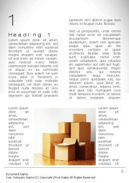 Moving Word Template First Inner Page