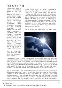 A New Day Word Template, First Inner Page, 10484, Global — PoweredTemplate.com