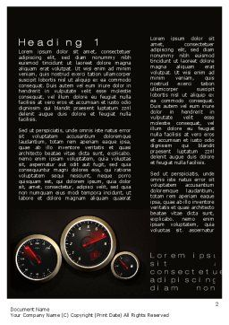 Car Dashboard Word Template, First Inner Page, 10486, Cars/Transportation — PoweredTemplate.com