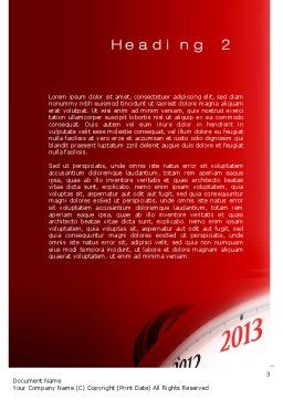 2013 New Year Clock Word Template, Second Inner Page, 10488, Business Concepts — PoweredTemplate.com