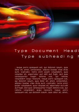Fast and Furious Word Template, Cover Page, 10492, Cars/Transportation — PoweredTemplate.com