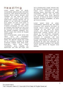 Fast and Furious Word Template, First Inner Page, 10492, Cars/Transportation — PoweredTemplate.com