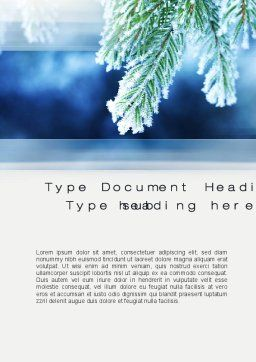 Winter Word Template, Cover Page, 10493, Nature & Environment — PoweredTemplate.com