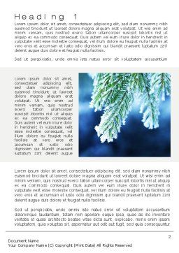 Winter Word Template, First Inner Page, 10493, Nature & Environment — PoweredTemplate.com