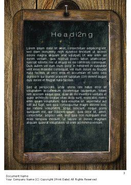 Chalkboard Word Template, Second Inner Page, 10495, General — PoweredTemplate.com