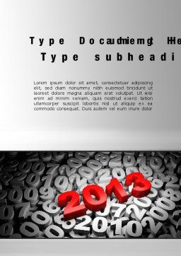 2013 and Other Years Word Template, Cover Page, 10496, 3D — PoweredTemplate.com