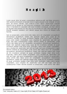 2013 and Other Years Word Template, Second Inner Page, 10496, 3D — PoweredTemplate.com